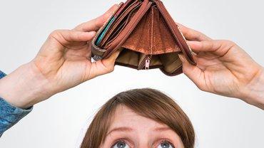 Frau Armut Geldnot