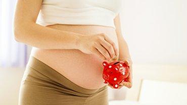 Mutter Schwangerschaft Sparschwein Finanzen