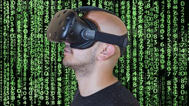 Virtual Reality VR Brille Mann Jugend Digitalisierung