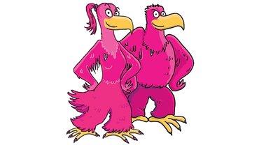 Adler Maskottchen Logo Comic Illustration
