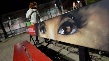 Aktion gegen Gewalt gegen Frauen in Turin